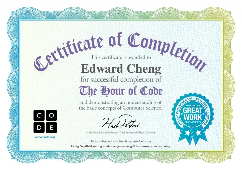 edward hour of code