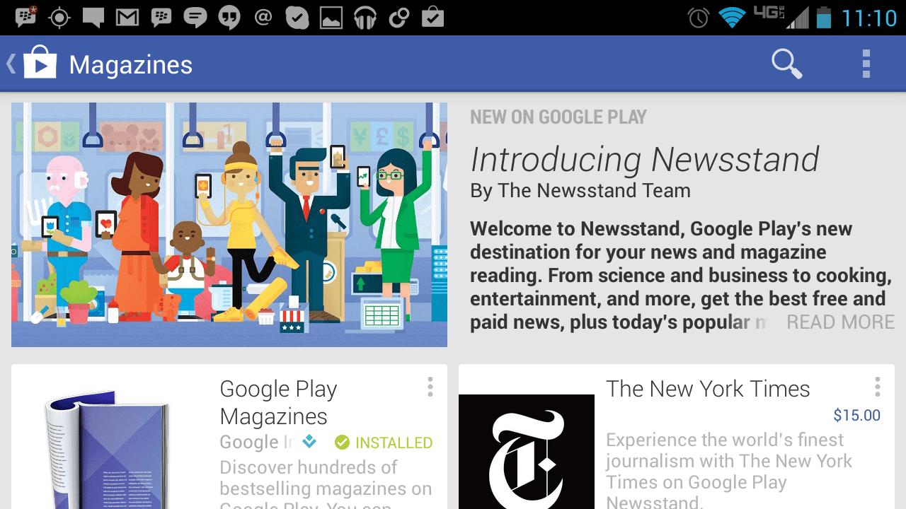 Google 推出《Google Play 書報攤》程式,統一《潮流同步》和《Google Play 雜誌》