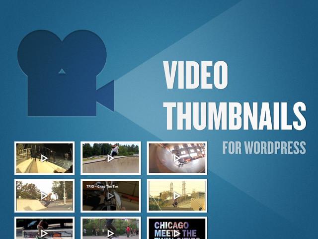 [WP插件] 珍稀有用的免費的WORDPRESS插件 Video Thumbnails