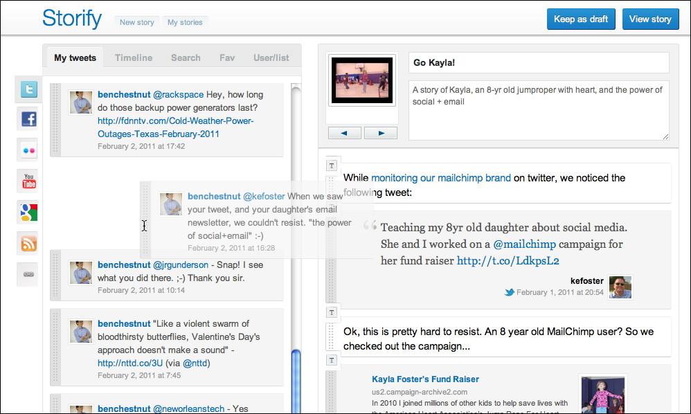 [Web3] Storify 編輯彙整說故事的社群圖片影音網站