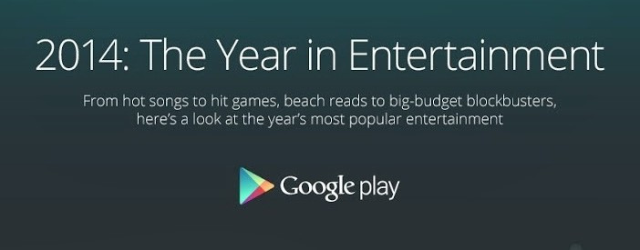 [Android]Google釋出2014最受歡迎的app, game, books, movie資訊圖表
