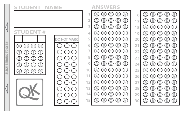 [APP]自動改考卷 試題評量好工具 : QUICK KEY 和猿題庫