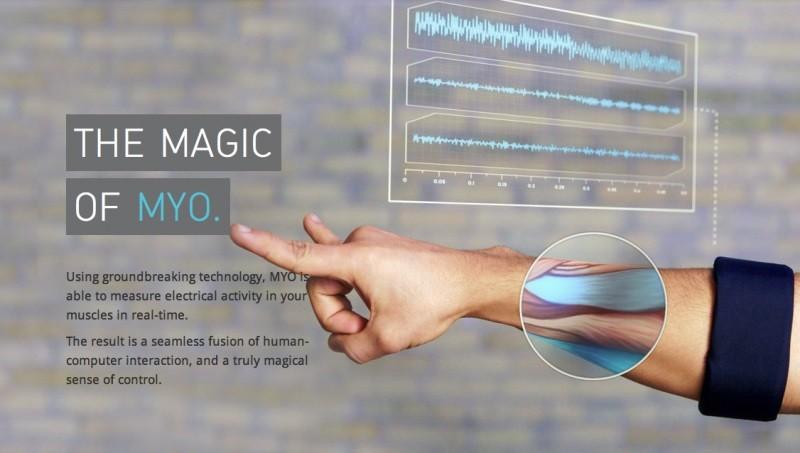 [MYO] 可攜式設備 : MYO 手勢控制手臂環