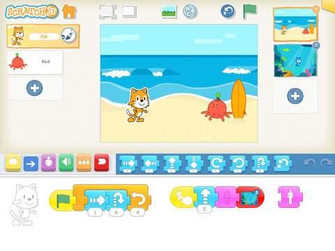 [Coding] 臺灣小孩 程式設計第五天 : ScratchJr 和 Tickle APP