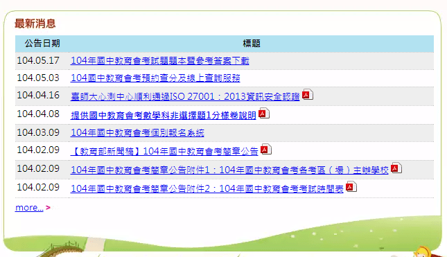 [會考] 104國中會考 英語科解析